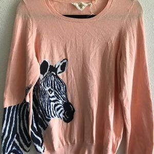 HWR Monogram Anthropologie Orange Zebra Sweater